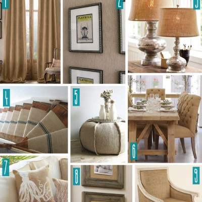 Color Series; Decorating with Burlap