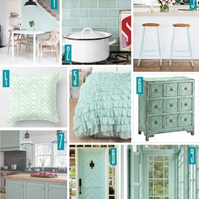 Color Series; Decorating with Mint