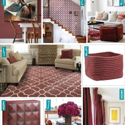 Color Series; Decorating with Marsala