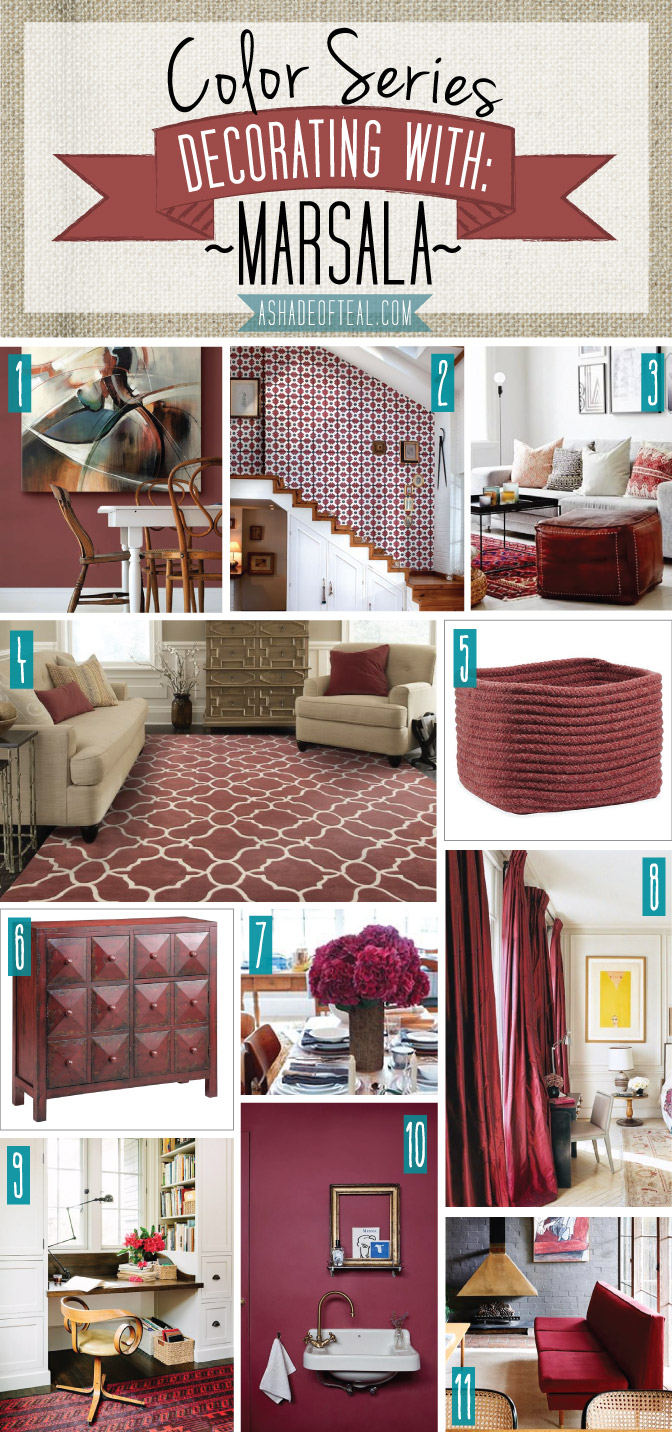 Color series decorating with marsala for How to start decorating a living room