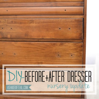 Nursery Update, Before+After Dresser