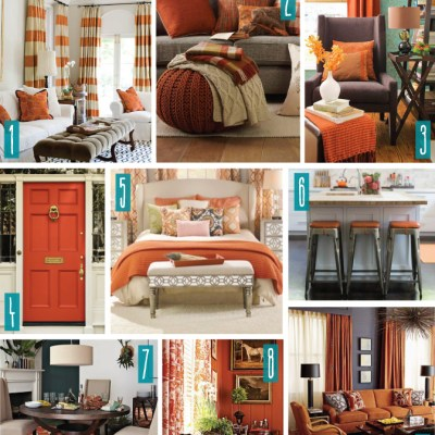 Color Series; Decorating with Rust Orange