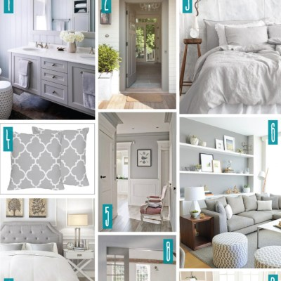 Color Series; Decorating with Light Grey