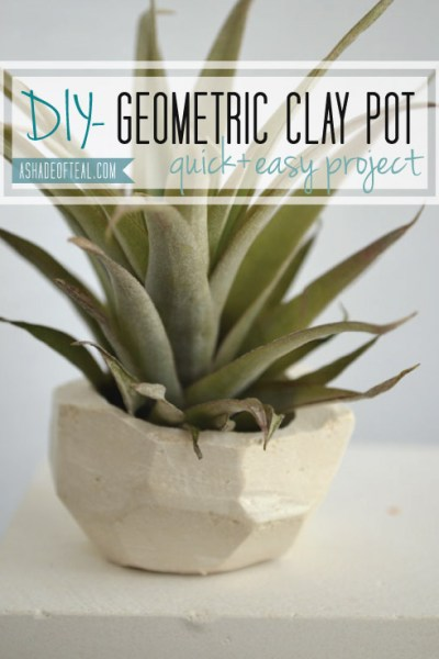DIY- Geo Clay Pot