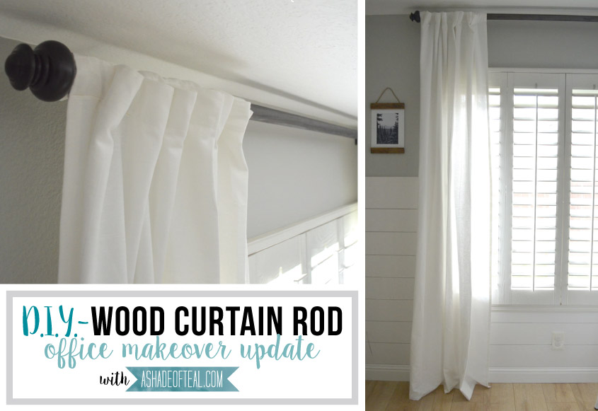 DIY Wood Curtain Rod For Under 20