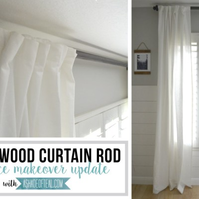 DIY- Wood Curtain Rod for Under $20