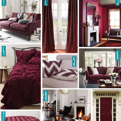 Color Series; Decorating with Burgundy