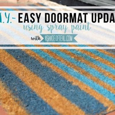 Easy Doormat Update with Spray Paint