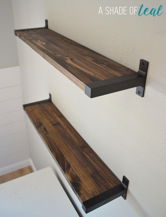 Swell Rustic Diy Bookshelf With Ikea Ekby Brackets Download Free Architecture Designs Viewormadebymaigaardcom