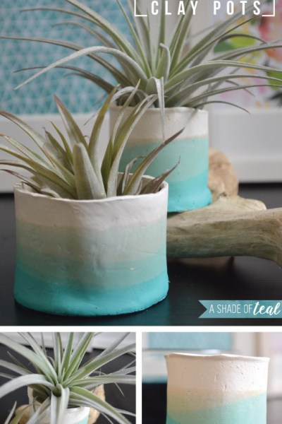 How to make Ombre Clay Pots