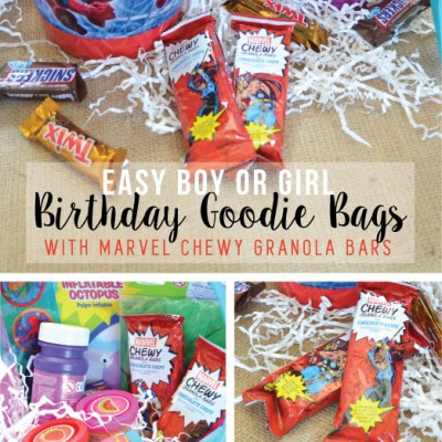Easy Boy or Girl Goodie bags with MARVEL Granola Bars