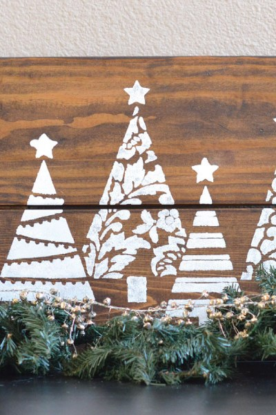 DIY- Christmas Tree Glitter Sign, with Cutting Edge Stencils