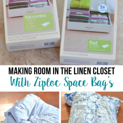 Making Room in the Linen Closet with Ziploc® Space Bags®
