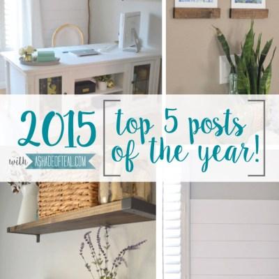 Top 5 Posts of 2015