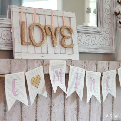 DIY // Valentines Day Mantle