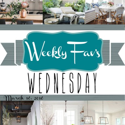 Weekly Fav's Wednesday {3.16.16}