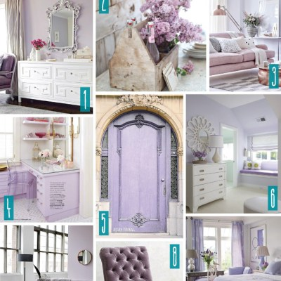 Color Series; Decorating with Lilac