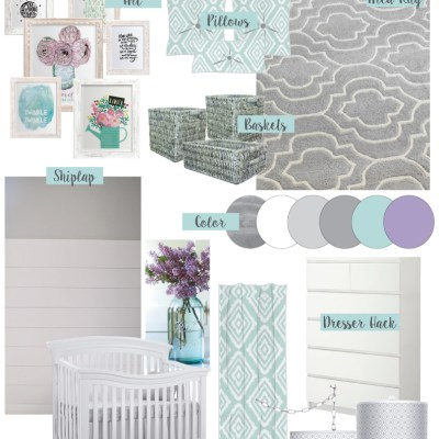 Rustic Glam Nursery {One Room Challenge}, Week-1