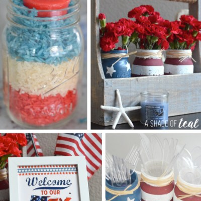 "Memorial Day ""Red White & Blue"" Crafts"