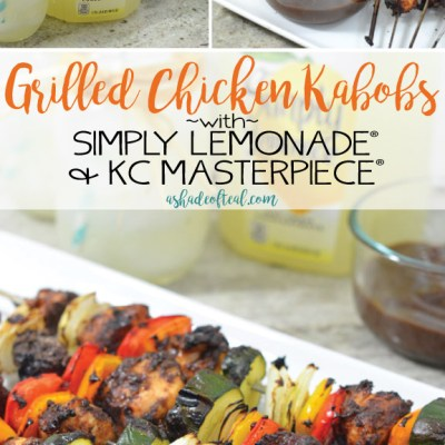 Grilled Chicken Kabobs with Simply Lemonade® & KC Masterpiece®