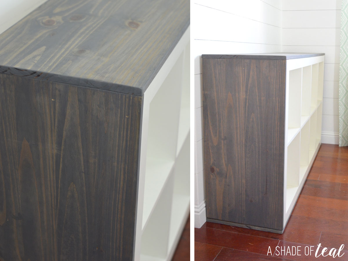 how to add wood to a ikea expedit cube shelf. Black Bedroom Furniture Sets. Home Design Ideas