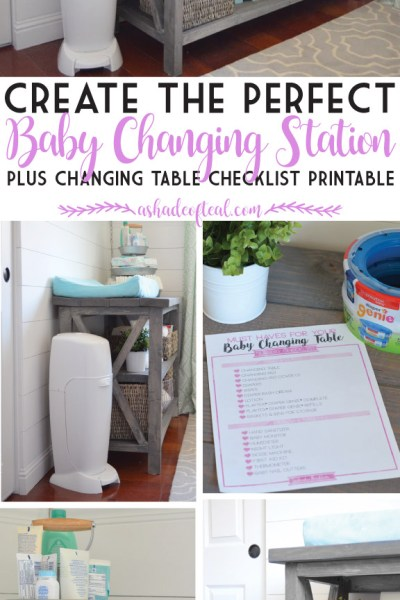 Create the Perfect Baby Changing Station, Plus a Checklist Printable!