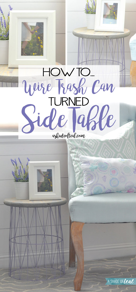 Wire Trash Can Turned Side Table. If ...