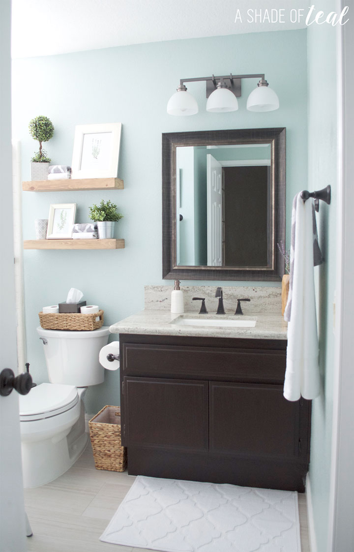 Quick Easy Rustic Bathroom Refresh