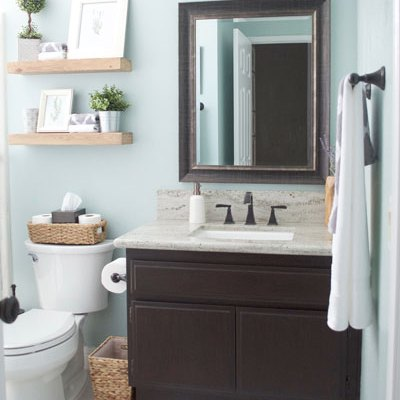 Quick & Easy Rustic Bathroom Refresh!