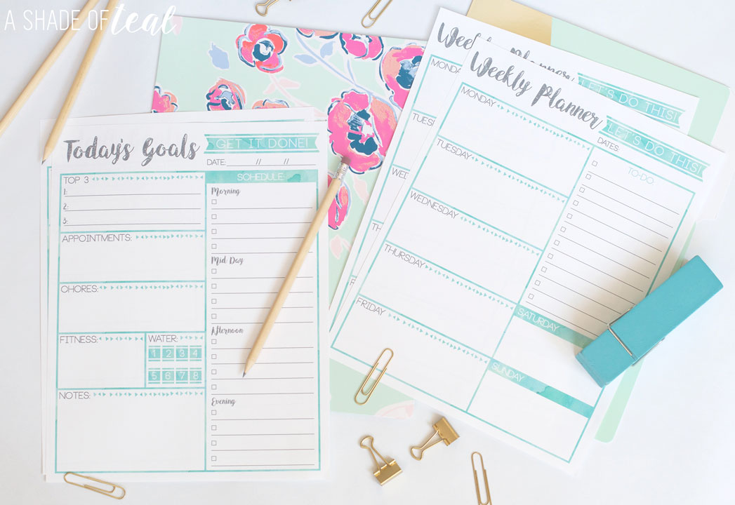 Free Weekly Planner  GoalS Printable