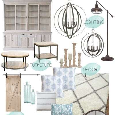 Modern Rustic Dining & Living Room // ORC Week-1: Inspiration