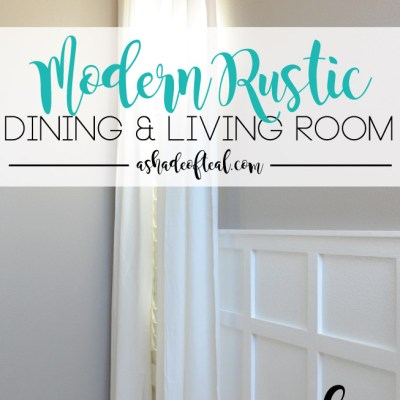 Modern Rustic Dining & Living Room // ORC Week-4