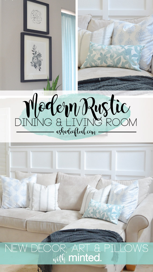 Modern Rustic Dining U Living Room Decor Updates With Minted With Where To  Start When Decorating A Living Room.