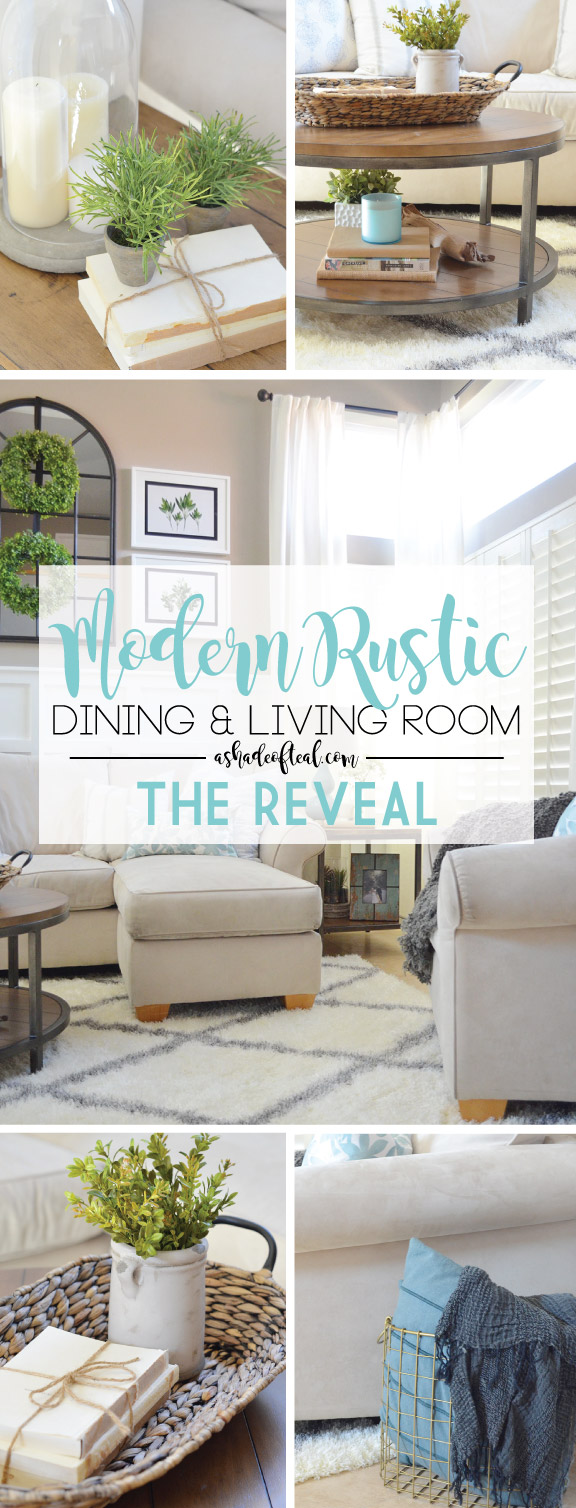 Modern Rustic Dining & Living Room // ORC: Living Room Reveal