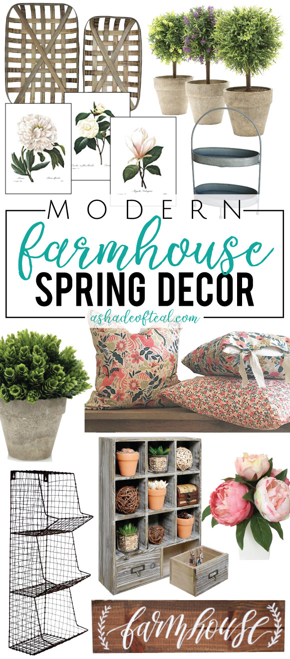 Modern farmhouse spring decor on a budget for Modern decor on a budget