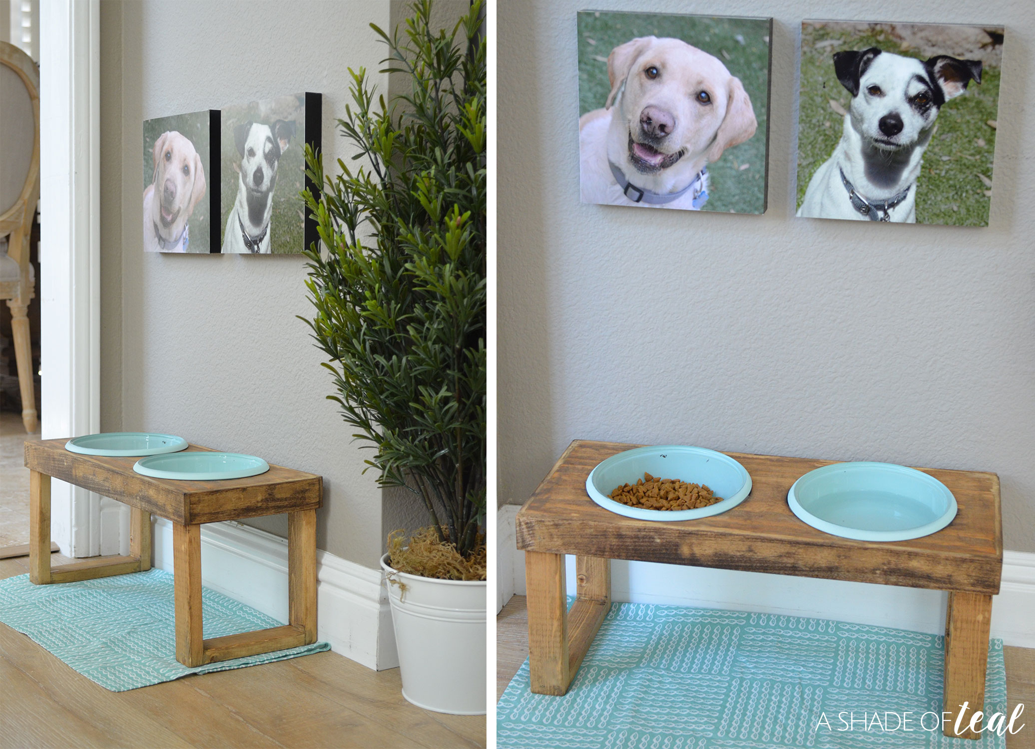 wooden elevated feeder bowl made bowls by bluecharliedesigns single on etsy two raised custom with rustic dog pin