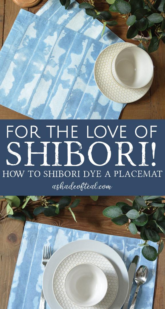 For The Love Of Shibori How To Shibori Dye A Placemat