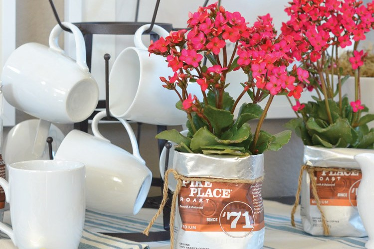 How to Make a Flower Pot from a Coffee Bag