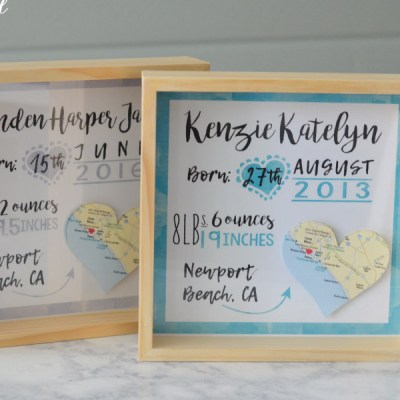 How to make a Custom Birth Announcement Keepsake