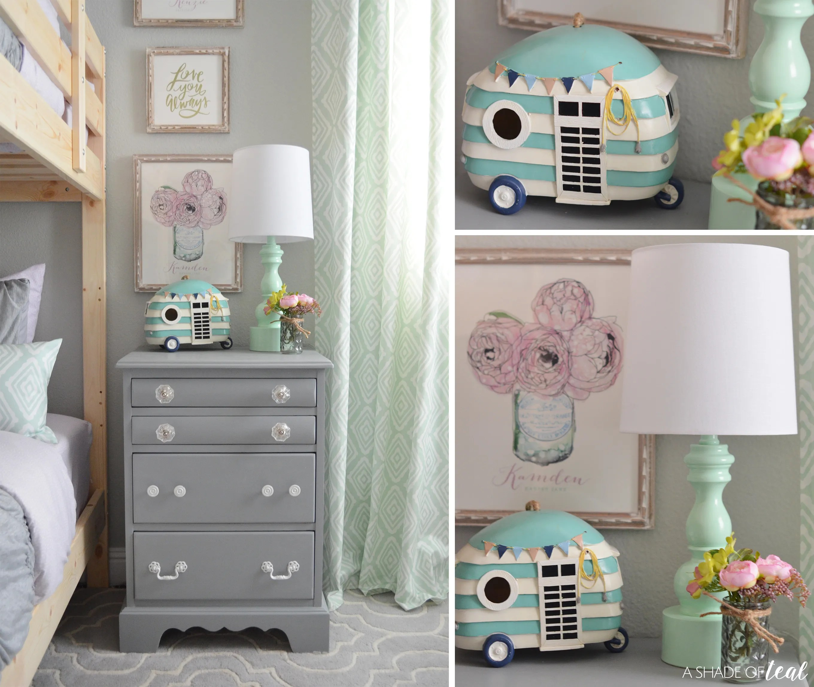 Modern Rustic Glam Shared Girls Bedroom Orc The Reveal