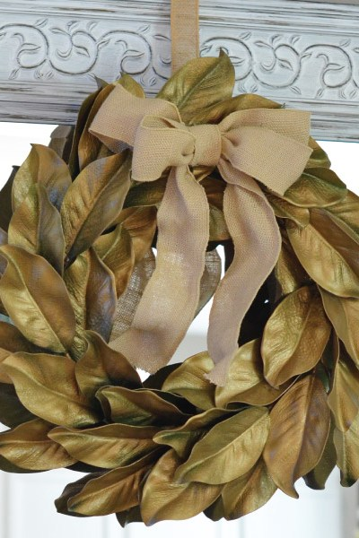 How to Make a Gold Magnolia Wreath!
