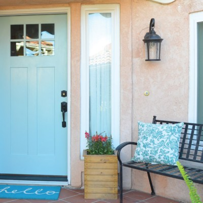 Updating Curb Appeal with a New Front Door!
