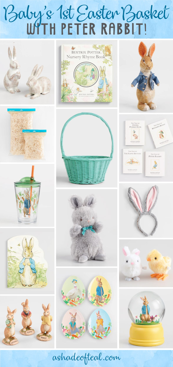 Babys 1st easter basket with peter rabbit since the new peter rabbit movie just came out ive been inspired by the film to create an easter basket with all things peter rabbit negle Gallery