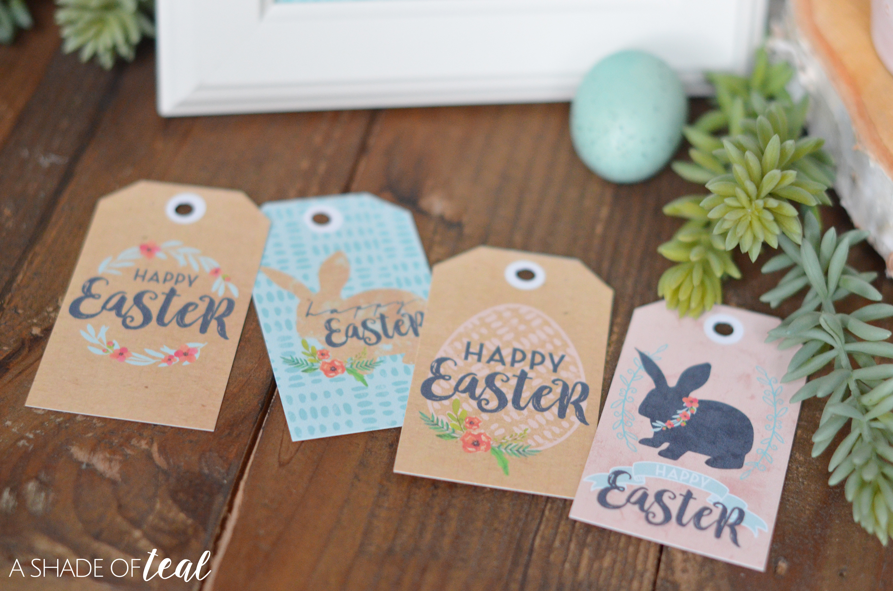 Happy easter with easter printables gift tags gift tags negle Choice Image