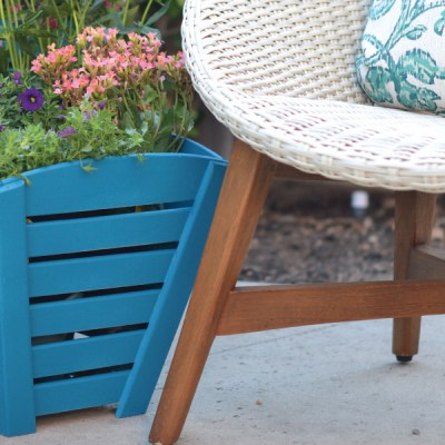 Adding a Pop of Color with a Planter Box Makeover