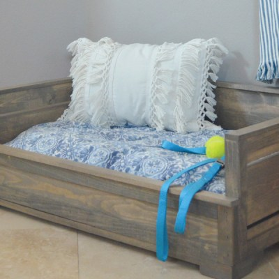 How to Build a Rustic Wood Dog Bed