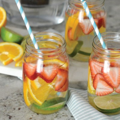 Summertime Favorite: Strawberry Orange Lime Infused Water featuring Brita Longlast!
