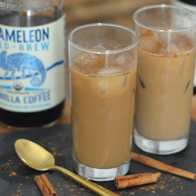 My Favorite Vanilla Cinnamon Iced Coffee