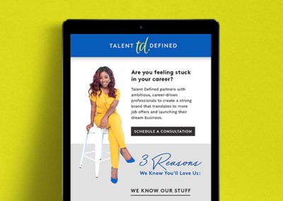Talent Defined Email Marketing