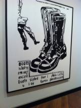 Paratrooper Boots 1985-86 Acrylic paint and silkscreen ink on canvas